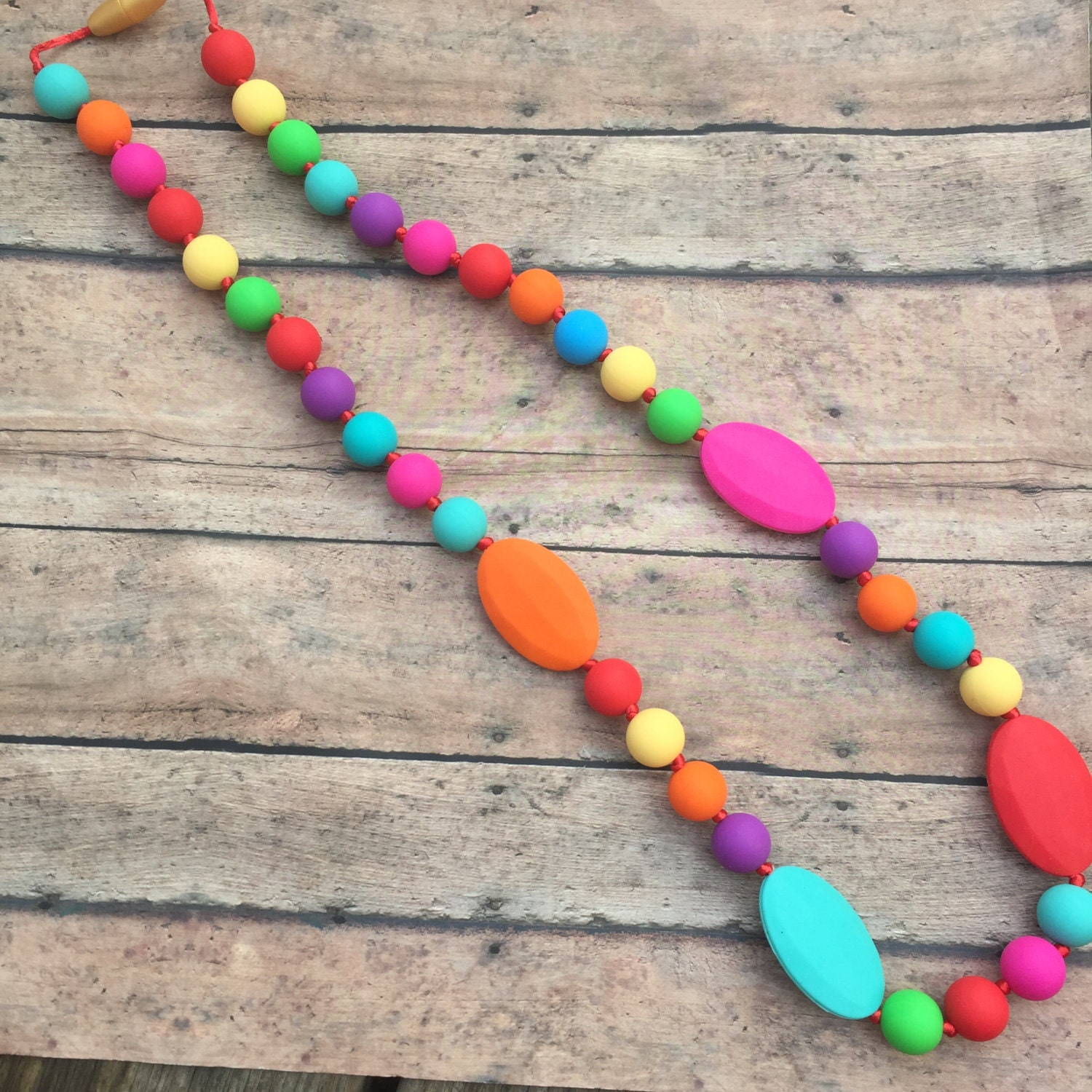 Teething Necklace Silicone Teething Beads Teether