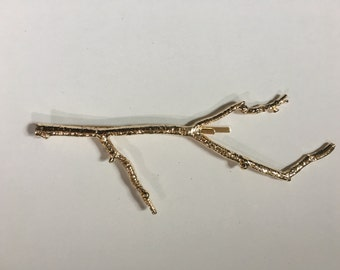 Large Gold Branch Twig Hair Clip HairPin Hair Accessory