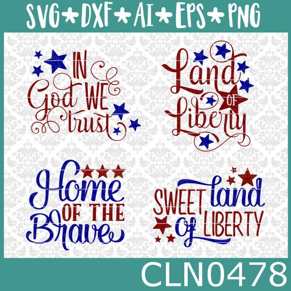 CLN0478 Independence Day Fourth Of July 4th Patriotic Sign SVG