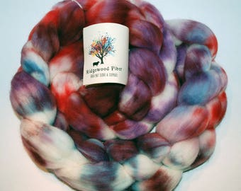 4oz Organic Process Superwash Merino Roving (combed top)