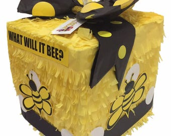 Ready To Ship Out What Will It Bee Gender Reveal Block Pinata