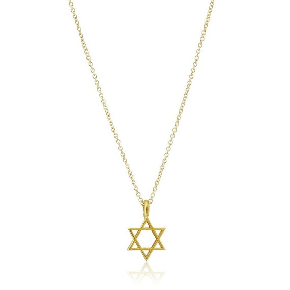 Star of david necklace jewish star necklace star necklace for Star of david necklace mens jewelry