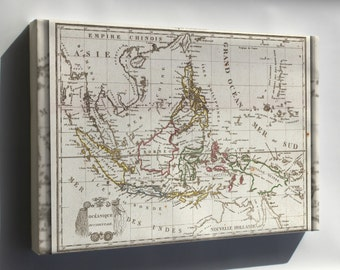 Canvas 24x36; 1810 Tardieu Map Of The East Indies, Singapore, Southeast Asia, Sumatra, Borneo, Java In French