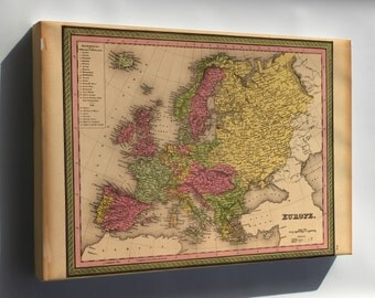 Canvas 24x36; Map Of Europe 1849