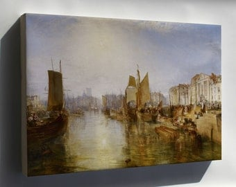 Canvas 24x36; Harbor Of Dieppe By Joseph Mallord William Turner