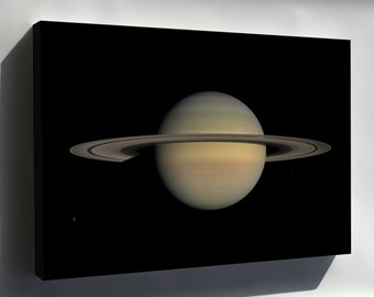 Canvas 24x36; Saturn During Equinox Taken By Cassini