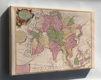 Canvas 24x36; Map Of Asia 1700 In French P1