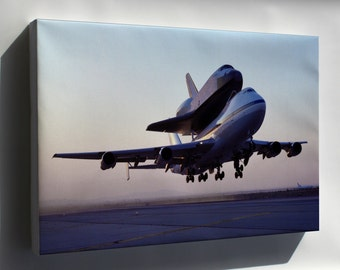 Canvas 24x36; Nasa 747 Shuttle Carrier With Space Shuttle Endeavour