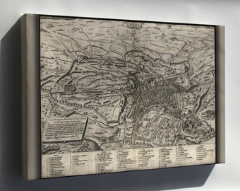Canvas 24x36; Map Of Rome, Italy, 1561