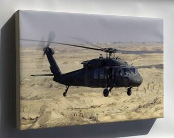 Canvas 24x36; Uh-60 Black Hawk