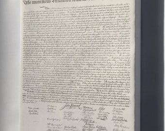 Canvas 24x36; Us Declaration Of Independece