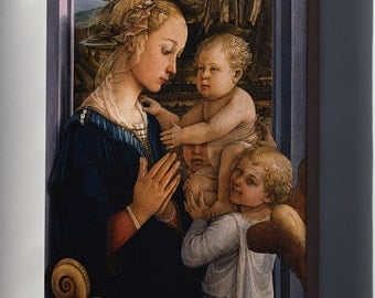 Canvas 16x24; Madonna And Child With Two Angels By Fra Filippo Lippi