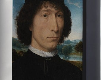Canvas 16x24; Hans Memling Portrait Of A Man With A Roman Coin Wga14910