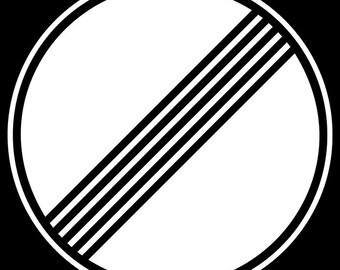 16x24 Poster; Autobahn Deregulation Sign