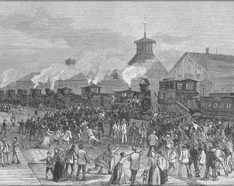 16x24 Poster; Blockade Of Engines At Martinsburg, West Virginia Great Railroad Strike Of 1877 P1