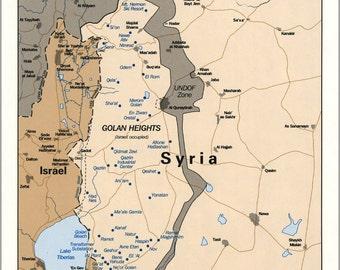 16x24 Poster; Cia Map Israel Settlements Golan Heights Feb 1992