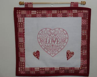 Love in a Heart Wall Hanging