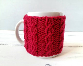Coffee Cup Warmer - Birthday Gift for Her - Coworker Gift - Coffee Sleeve - Mug Warmer - Coffee Mug Cozy – Red Cup Cozy – Coffee Gifts