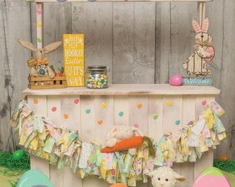 5' x 5' Spring Sale, egg hunt vinyl Photography Backdrop