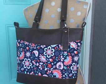 Handmade Handbag, Everyday bag, diaper bag, over night bag