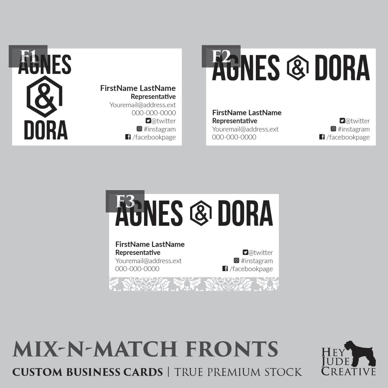 agnes dora business cards 500
