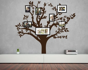 Family Tree Wall Decal   Photo Frame Tree Decal   Family Tree Wall Sticker    Wall