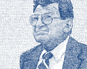 Joe Paterno 409 - PSU Gift - Penn State Football - Penn State Art - We Are - Penn State Decor - Wall Art - Dorm Decor - College Art