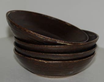 Handmade pottery bowls. Salad or cereal bowls. Pottery bowl set.