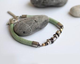 Beaded bracelet, bohemian bracelet, stackable bracelets, silver bead bracelet, turquoise bracelet, boho bracelet, birthday gift for friend