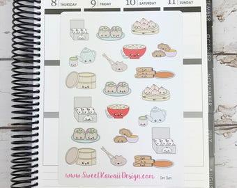 Kawaii Dim Sum Stickers