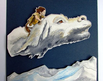 Box endless story, The Neverending Story original watercolor picture