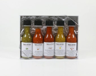 Spice of Life Sampler Pack / Gift Set. Featuring our 5 sauces!