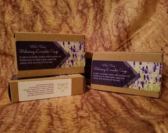 Relaxing Lavender Rosemary Soap