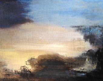 Peinture abstraite sur carton