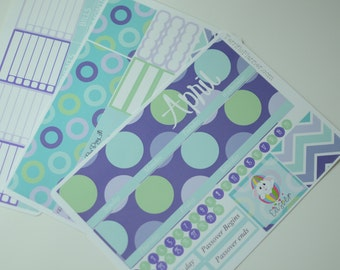 April  Monthly Spread Kit Planner Stickers Removable Matte  or Glossy Stickers
