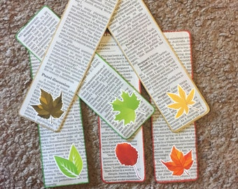 "Newspaper ""Autumn Leaves"" Bookmark"