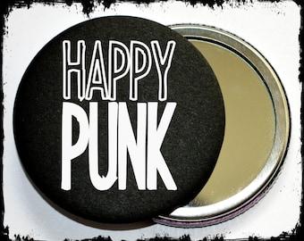 Happy Punk makeup mirror - punk makeup mirror - punk makeup tools - punk accessories - gift idea - gift ideas