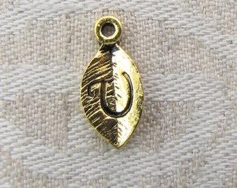 "Gold Leaf Letter ""U"" Charm, 1 or 5 letters per package  ALF017u-GL"