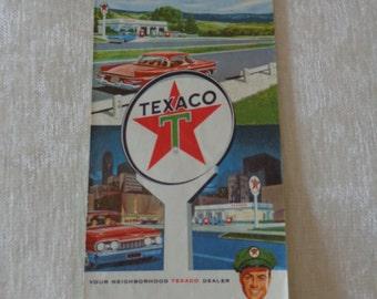 1964 Vintage Texaco Mississippi road map