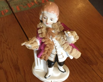 Occupied Japan Porcelain Colonial Man