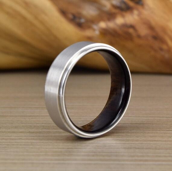 African Blackwood Bands: Mens Wedding Band African Blackwood Cobalt Wedding Ring