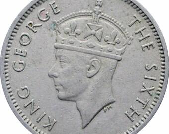 1950 Malaya 10 Cents George VI Coin