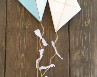 Hand-cut kite wood sign - wooden signs- home decor - kite decor - flying kite - lets go fly a kite