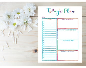 2017 Daily Agenda - Printable Planner Pages - To Do List - Daily Planner - Day Planner - 2017 Planner Inserts - Letter Size Planner