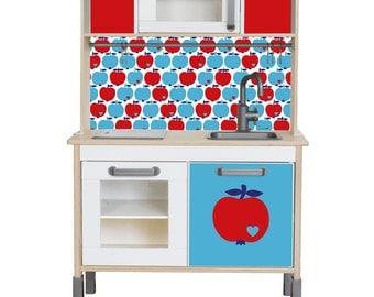 Ikea kallax expedit puppenhaus bauen passendes wandtattoo - Sticker cuisine ikea ...