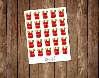 HEB inspired planner stickers, Shopping Stickers