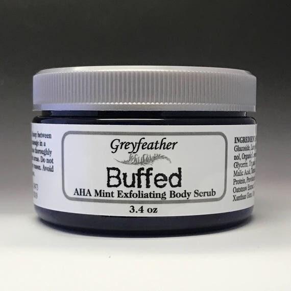 NEW Buffed AHA Exfoliating Body Scrub!