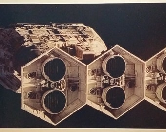 """2001 Space Odyssey GIANT WIDE 46"""" x 24""""  Poster Print HAL Discovery One Spaceship Monolith Kubrick"""