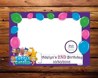 Bubble Guppies Photo Booth Prop Frame JPEG