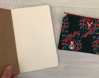 Empty notebook Set + matching pouch